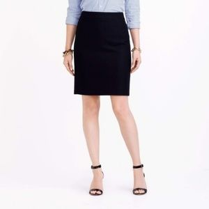 J. Crew | Black Wool Pencil Skirt Professional 10